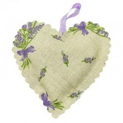 Levandulové srdce béžové