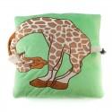 Polštář s uchem žirafa 33x33