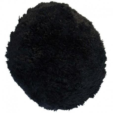Polštář chlupatý černý Ø 45 cm