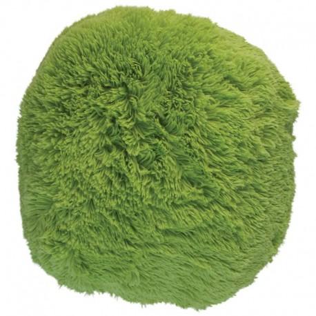 Polštář chlupatý zelený Ø 45 cm
