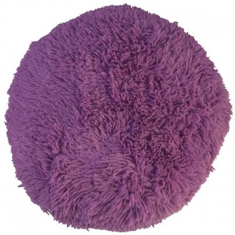 Polštář chlupatý lila Ø 45 cm