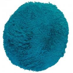 Polštář chlupatý tyrkysový Ø 45 cm