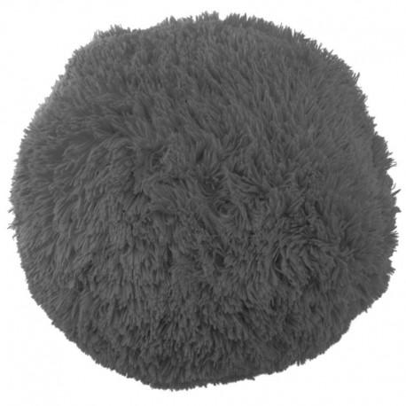 Polštář chlupatý šedý Ø 70 cm