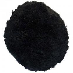 Polštář chlupatý černý Ø 70 cm