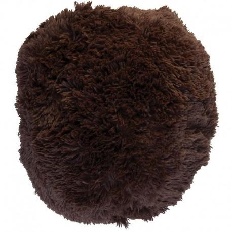 Polštář chlupatý hnědý Ø 70 cm