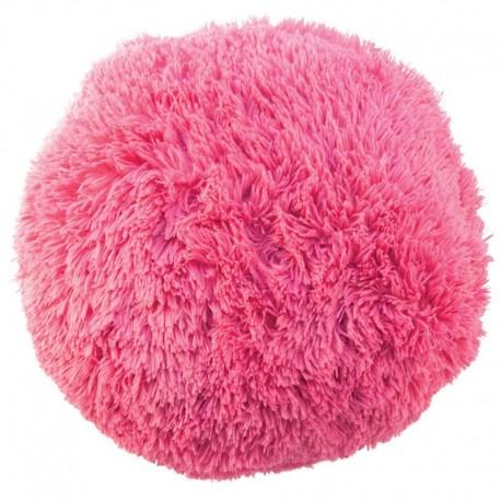 Polštář chlupatý růžový Ø 70 cm