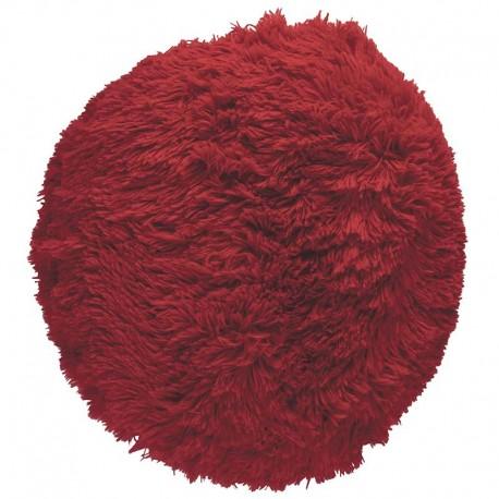 Polštář chlupatý červený Ø 70 cm