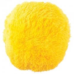Polštář chlupatý žlutý Ø 70 cm