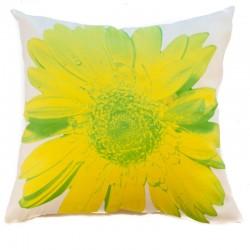 Povlak na polštář zelený květ 45 x 45 cm