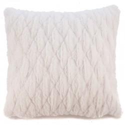 Povlak na polštář chlupatý prošívaný bílá 45 x 45 cm