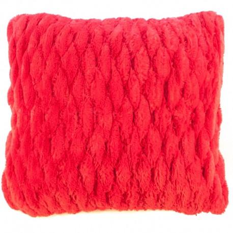 Povlak na polštář chlupatý prošívaný červená 45 x 45 cm