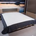 Přehoz na postel 160x220cm šedý lem