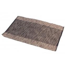 Štola bavlna 30x90cm hnědý pruh