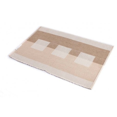 Štola bavlna 35x140cm béžová kostka