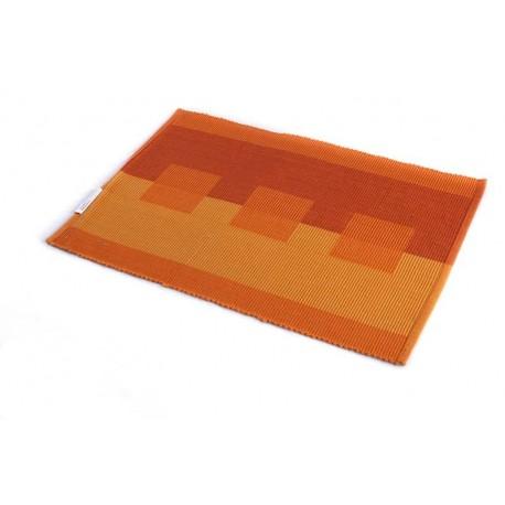 Štola bavlna 35x140cm oranžová kostka