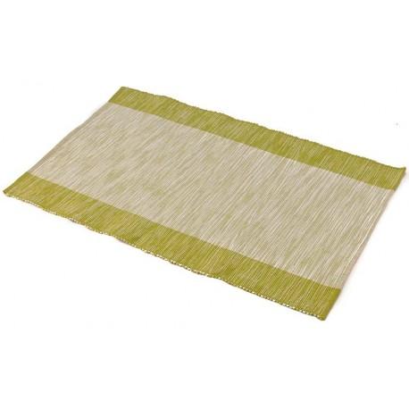 Štola bavlna 35x140cm zelený pruh