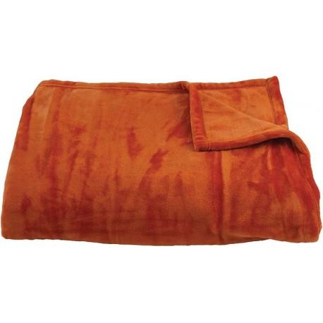 Deka z mikrovlákna Aneta oranžová