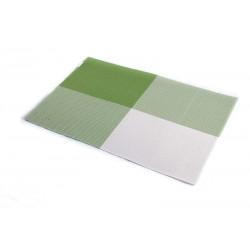 Prostírání PVC zelená šachovnice (30×45)
