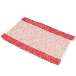 Prostírání bavlna červeno-bílý pruh (30×45)