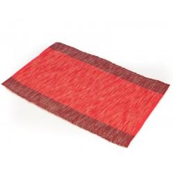 Prostírání bavlna červený pruh (30×45)