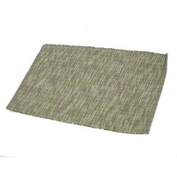 Štola bavlna 35x140cm melír zelenošedý