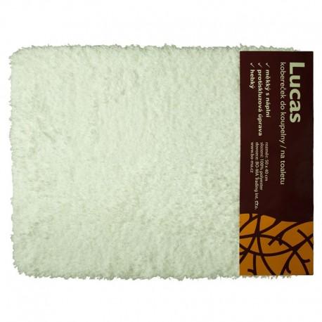 Koupelnová předložka 50 x 40 cm Lukas bílá