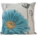 Povlak na polštář 45 x 45 cm Květ tyrkysový