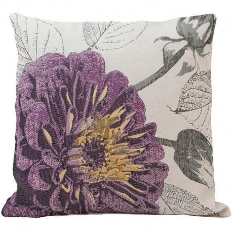 Povlak na polštář 45 x 45 cm Květ fialový