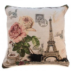 Povlak na polštář Gobelín Rose Eiffel 45x45