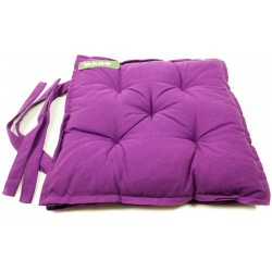 Sedák na židli pět prošití fialový