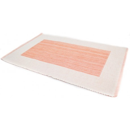 Prostírání bavlna rámeček lososový