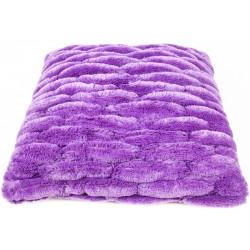 Povlak na polštář chlupatý prošívaný fialový 45 x 45 cm