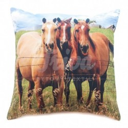Povlak foto satén Tři koně