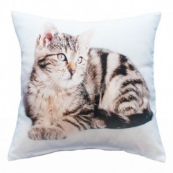 Povlak foto satén Kočka