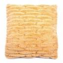 Povlak na polštář chlupatý prošívaný oranžový