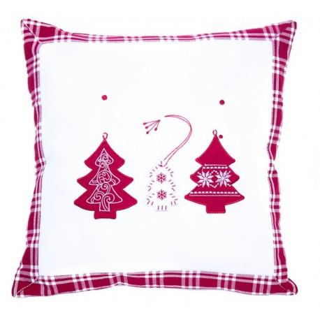 Povlak Vánoční kostka bílá