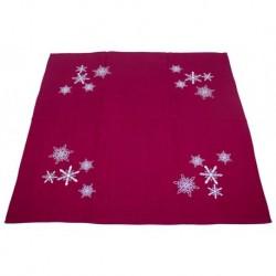 Ubrus 85 x 85 cm Vánoční vločky červené