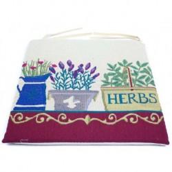 Podsedák gobelínový 45 x 45 cm - Herbs