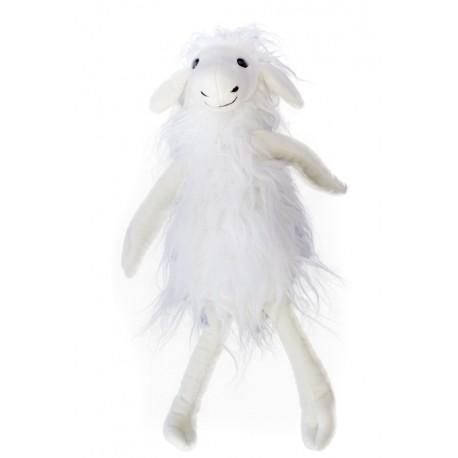 Ovce Tibet sedící bílá