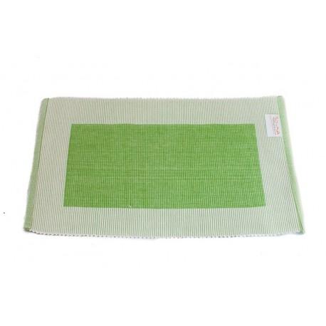 Prostírání bavlna zelený rámeček (30×45)