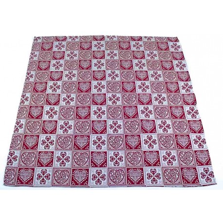 Gobelínový ubrus Srdce 100 x 100 cm